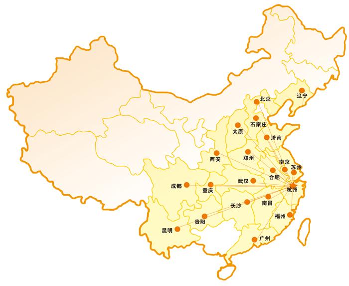 杭州景点手绘分布